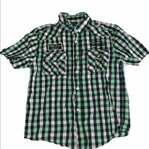 FUBU The Collection Boys Size 10 Green Shirt
